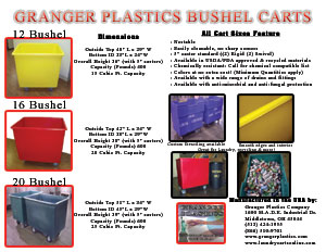 12 Bushel Cart, Granger 12 Bushel, Granger Laundry Cart, Granger Step Truck, Recycling Cart, Laundry Tote
